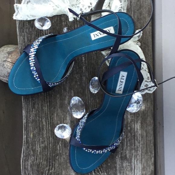 Alfani Shoes | Navy Blue Dressy Sandals